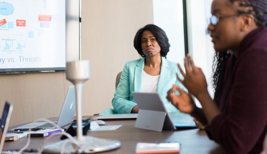 Person presenting to the board