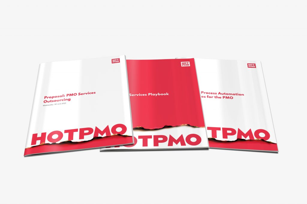 Examples of three proposals using HotPMO branding.