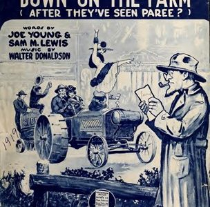 Poster for the musical How 'ya gonna keep 'em down on the farm (after they've seen Paree?